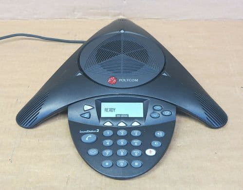 Polycom SoundStation 2 Expandable Analog Conference Phone 2201-16200-001-D